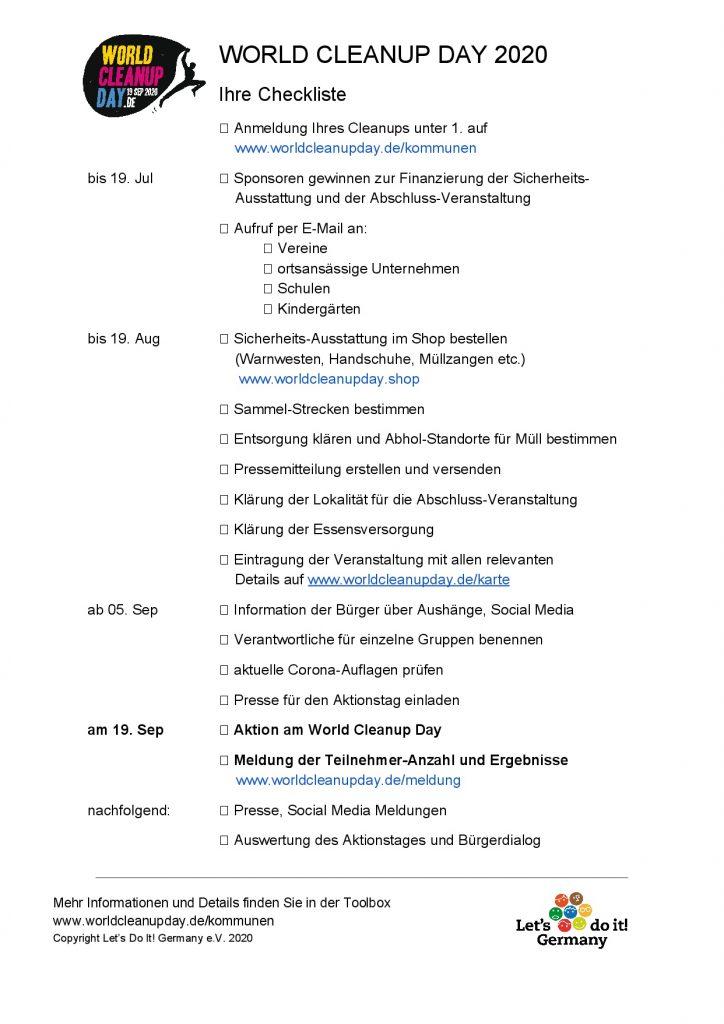 Checkliste Kommunen